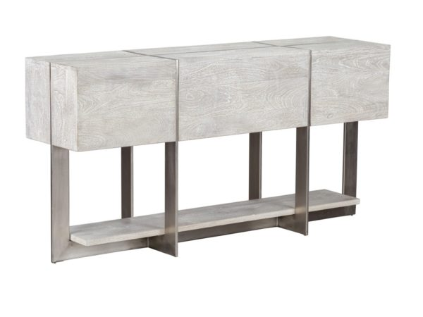 white wash wood console table