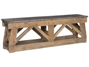 100″ Large Marbella Console Table with Stone Top