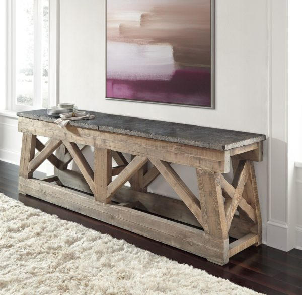 Large console table with stone top