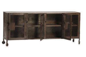Kenter Industrial Iron Sideboard Cabinet with Mesh Doors