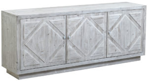 84″ Mallow Grey Wash Sideboard Media Cabinet