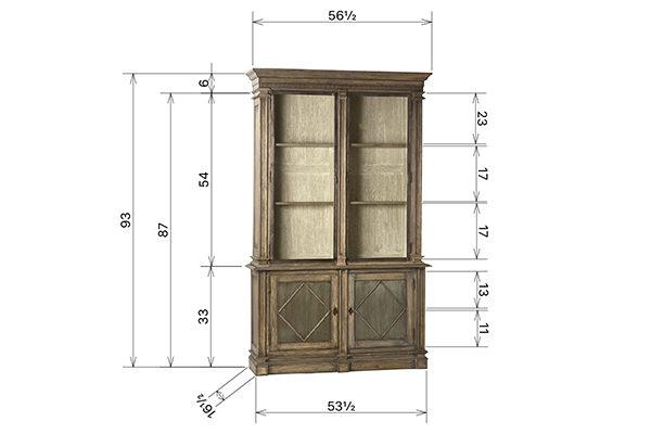 tall wood glass cabinet
