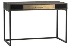Small Wood & Brass Home Desk