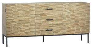 73″ White Wash Sideboard Cabinet With Drawers