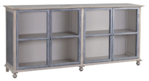 Ava Grey Wood and Glass Cabinet