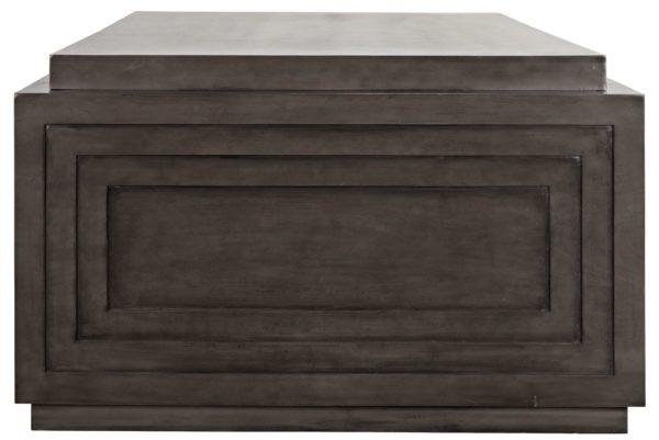 large dark wood desk side view