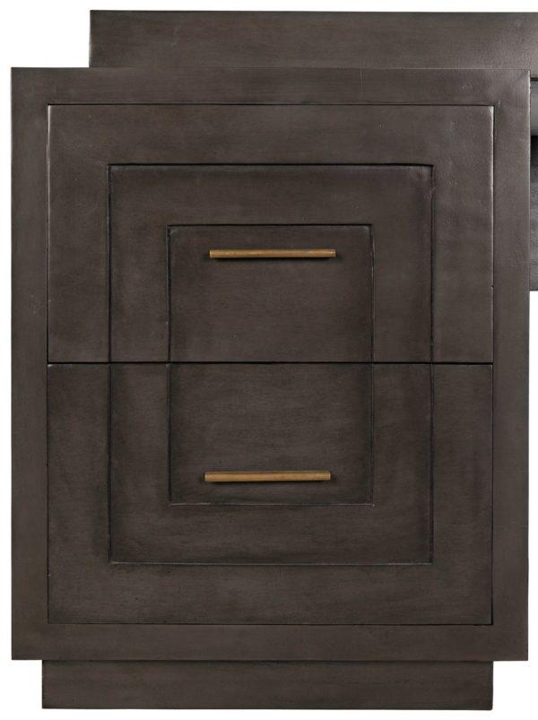 dark wood large desk close up
