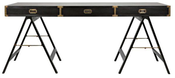 campaign style black desk