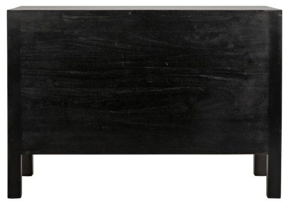 dark wood dresser back view