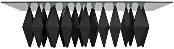 black metal base coffee table