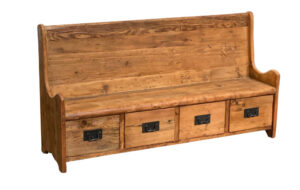 67″ Church Style Entry Bench with Storage