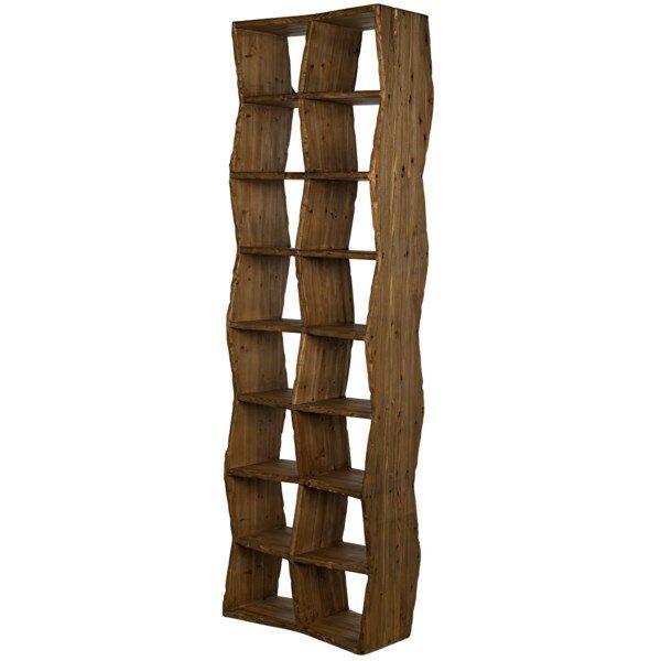 dark reclaimed wood bookshelf