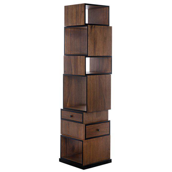 modern dark walnut bookcase
