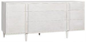 Morten 9 Drawer White Dresser