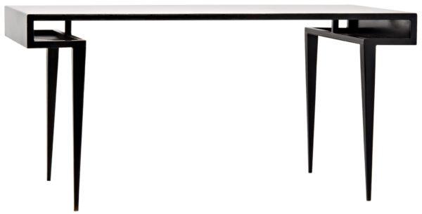 modern black wood desk