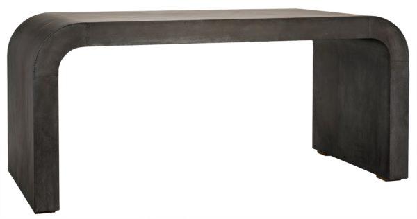 zinc grey console table