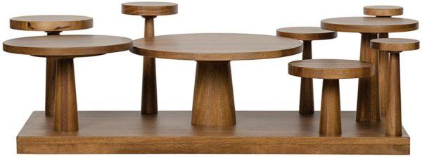 wood circular coffee table