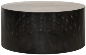 Dixon Black Metal Round Coffee Table