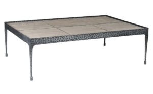 Cromwell Wood and Hammered Iron Coffee Table