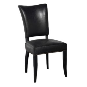 Ronan Black Vegan Leather Chair (Set of 2)