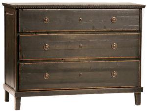 Soren medium size black dresser hand painted