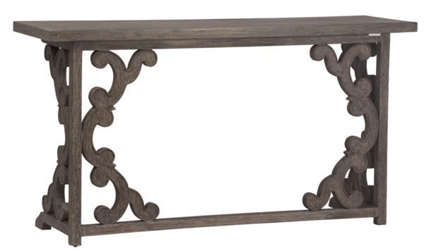 grey wash wood console table