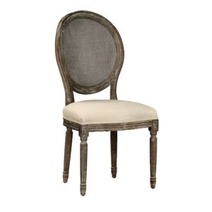 Oak and Rattan Alice Dining Chair (Set of 2)