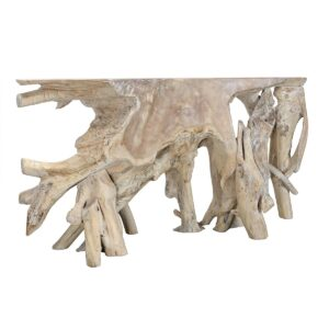 72″ Teak Root Console Table