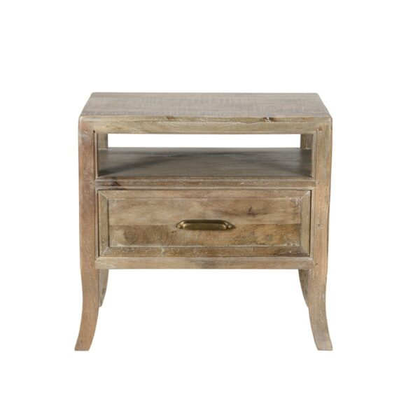 reclaimed wood nightstand front view
