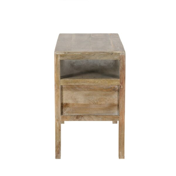 reclaimed wood nightstand side view