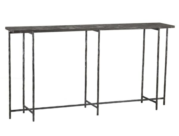 dark stone and iron console table