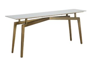 Hesby White Marble Console Table