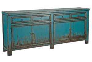 Libbit Antique Finish Blue Sideboard