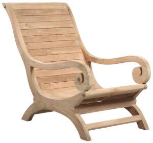 Set of 2 Teak Lounge Chair
