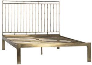 Ferguson Iron Bed with Brass Finish