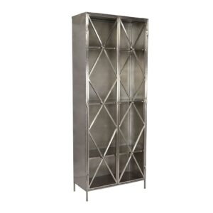 Rexar Iron Tall Glass Cabinet