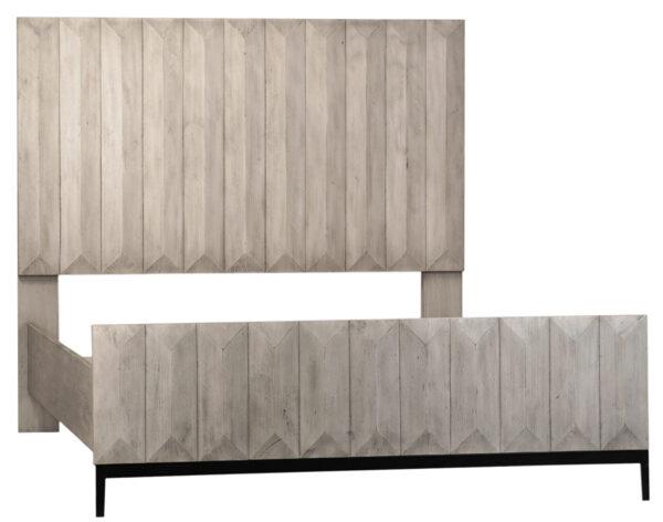 grey wash wood bed