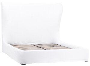Barnes White Linen Slipcover Bed