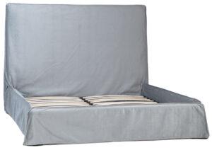Adaza Light Grey Slipcover Bed EK