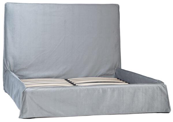 light grey slipcover bed