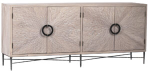 79″ Vermont Grey Finish Wood Sideboard Cabinet