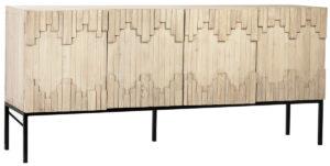 79″ Reclaimed Wood Media Cabinet Sideboard