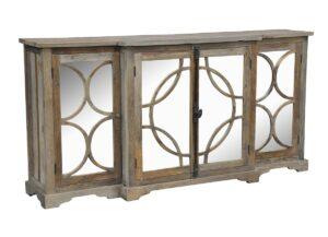 79″ Wells Reclaimed Wood Mirrored Sideboard