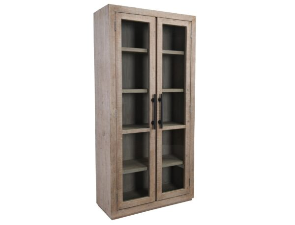 tall cabinet with glass doors side view