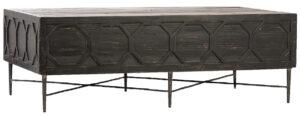 Harten Black Reclaimed Wood Coffee Table