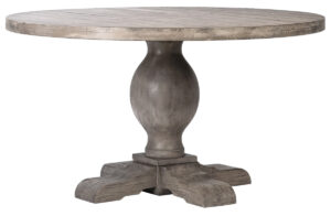 54″ Baxley Round Light Pine Wood Dining Table