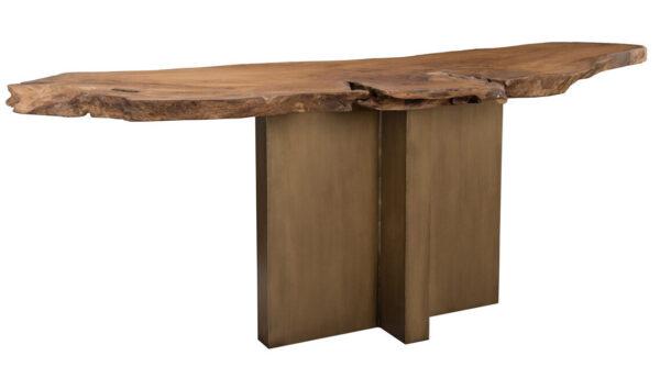 Live edge teak console table