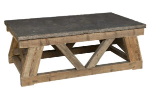 Marbella Wood and Stone Top Coffee Table
