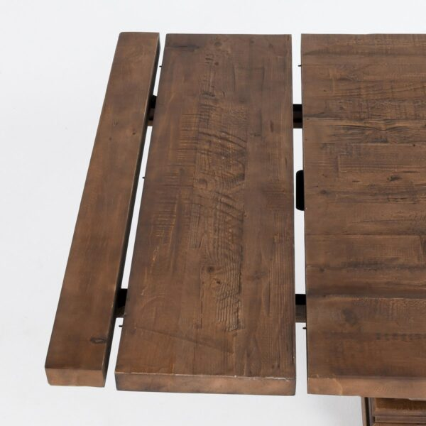 Dining table with extensions detail