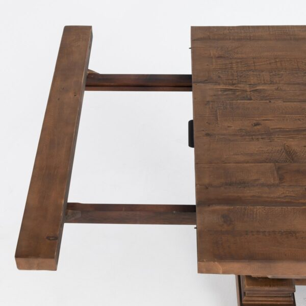 Dining table with leaves open